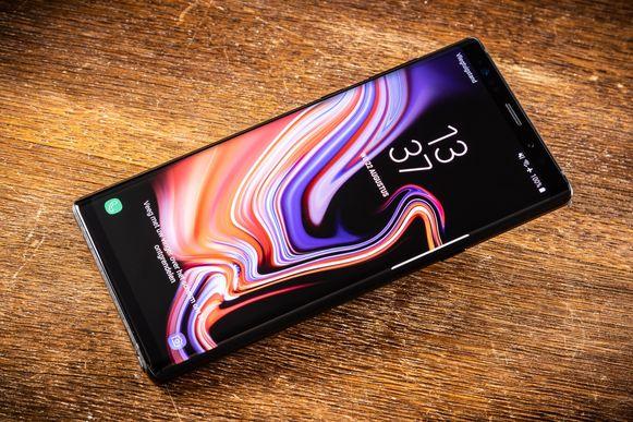 De Galaxy Note 9.
