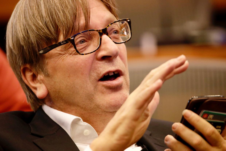 Guy Verhofstadt (Open Vld). Beeld AP