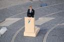 Koning Willem-Alexander spreekt tijdens de Nationale Dodenherdenking op de Dam.