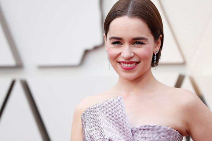 Emilia Clarke op de rode loper van de Oscars in februari van dit jaar.