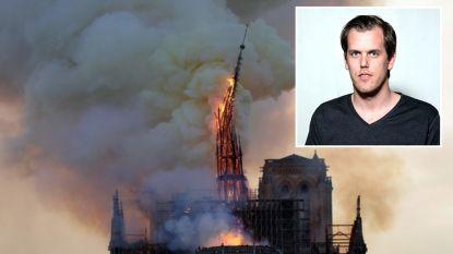 """Belg fotografeerde instortende torenspits Notre-Dame: """"De foto van mijn leven"""""""