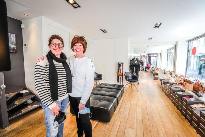 Schoenwinkel Luigi in Oostende stopt: Stephanie Storme en Karine Velghe