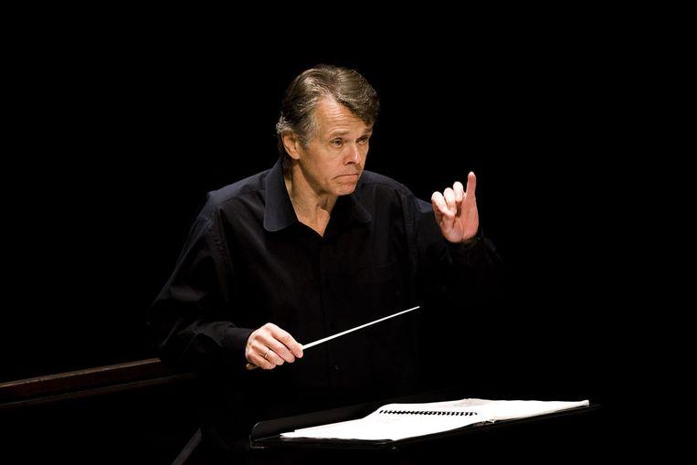 Mariss Jansons tijdens een repetitie in het Amsterdamse Concertgebouw (ANP) Beeld