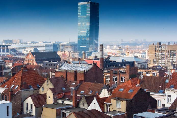 Skyline van Brussel vanuit Anderlecht.