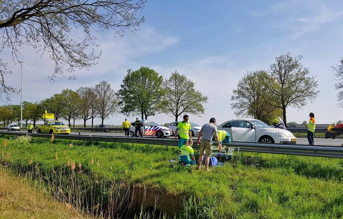 Ongeval op de A58 bij Moergestel.