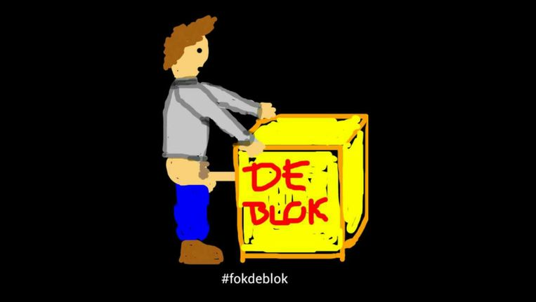 Een van de cartoons die worden ingestuurd op de Snapchataccount van Gentse studenten. Beeld rv