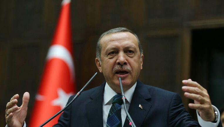 De militairen zouden volgens de aanklacht de regering van premier Erdogan omver willen werpen. Beeld afp