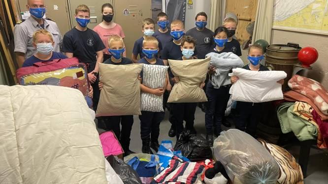 Oostendse Marinekadetten zamelen dekens en kledij in voor hun zusterafdeling in Namen