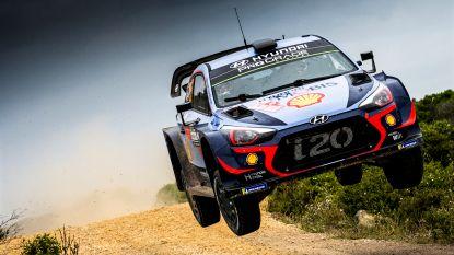 Thierry Neuville voorlopig tweede in Rally van Sardinië, Sébastien Ogier aan de leiding
