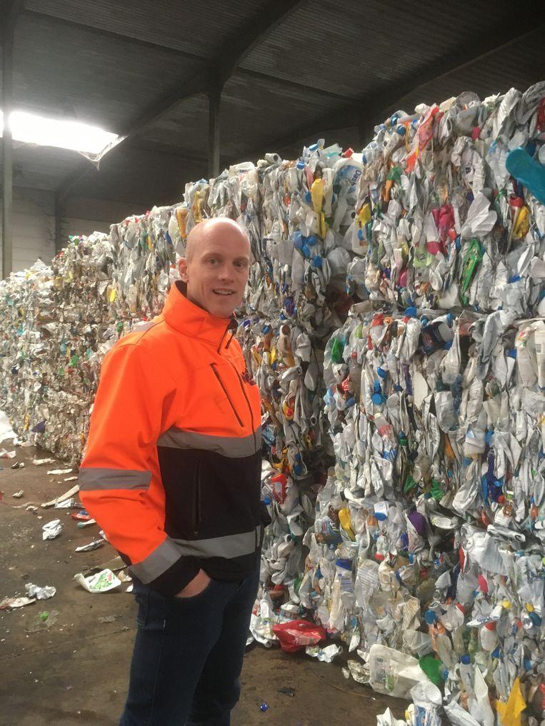 Ben Kras: 'Het is gewoon een feit dat 10 à 15 procent van alle plastic niet-recycleerbaar is. De doelstellingen die Europa zich oplegt, zijn niet realistisch.' Beeld Humo