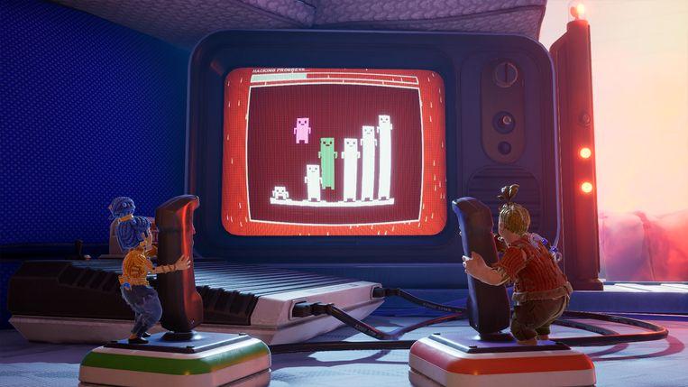 Droste-effect: ook de personages in het computerspel It Takes Two spelen games. Beeld EA
