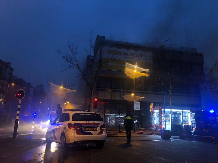 Brand in het centrum van Eindhoven.
