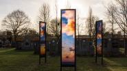 Kunstig wolkenlandschap geeft begraafplaats wat meer kleur