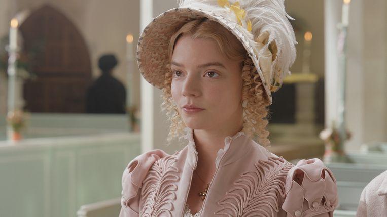 Anya Taylor-Joy als Emma Woodhouse.  Beeld
