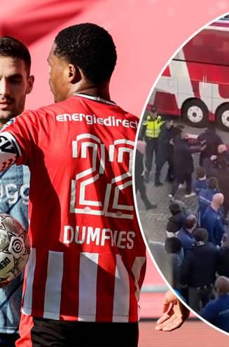 Woedende PSV-fans bekogelen Tadic buiten het stadion nadat Ajax-kapitein het aan de stok had met Dumfries