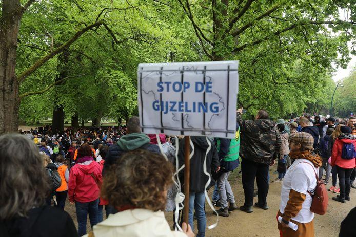 De 'World Wide Demonstration for Freedom' in het Ter Kamerenbos.