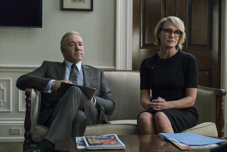 Robin Wright als Claire Underwood. Beeld © David Giesbrecht / Netflix/The
