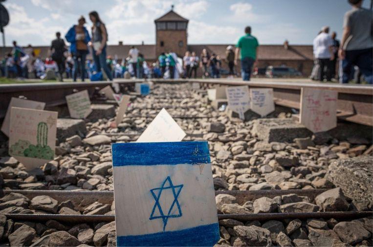 'Door Israëlische jongeren systematisch naar Auschwitz te sturen, creëer je een psyche waardoor ze in staat zijn ongeoorloofde dingen te doen, zoals Palestijns gebied bezetten.' Beeld