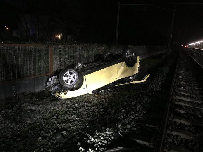 De getroffen auto