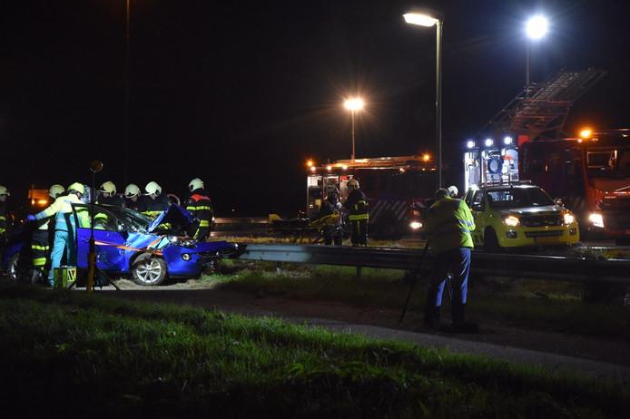 Het slachtoffer raakte bij het ongeluk bekneld.