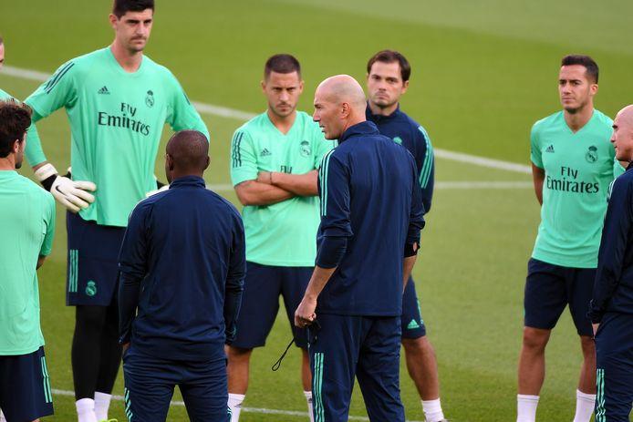 Courtois a rapidement été mis en confiance par Zinedine Zidane.