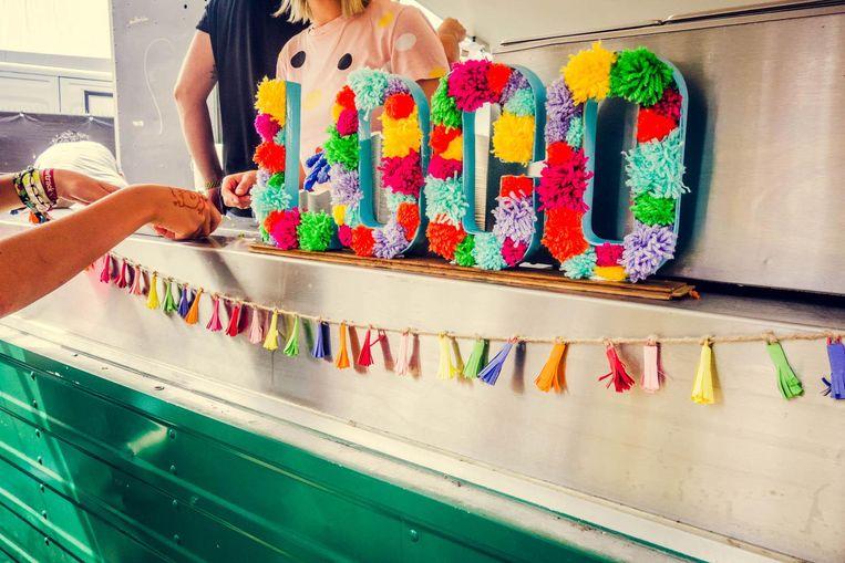De kleurrijk ingeklede taco-truck van Jalapeño Loco Beeld Fernand Van Damme