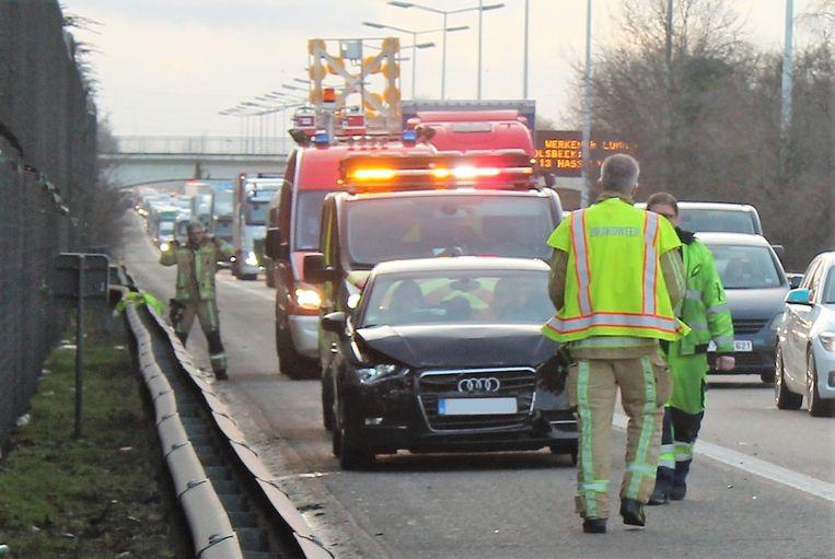 Bij het ongeval raakte één persoon gewond.