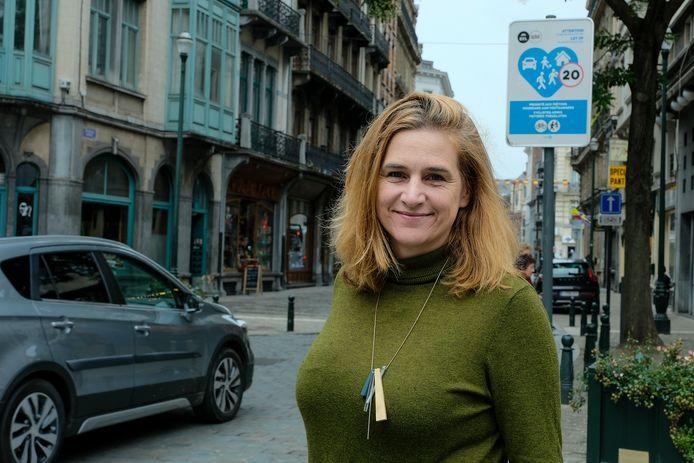 Elke Van den Brandt, ministre bruxelloise de la Mobilité et des Travaux publics (Groen).