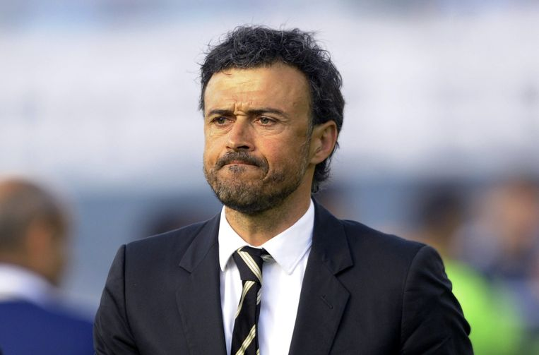 Luis Enrique, misschien toekomstig trainer van Barcelona, klopte met zijn Celta Real Madrid. Beeld AFP