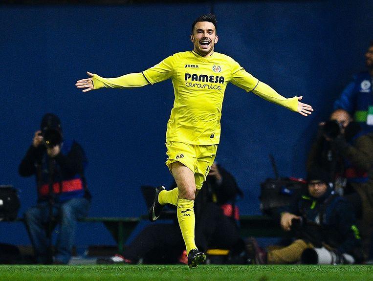 Sansone in het shirt van Villarreal.