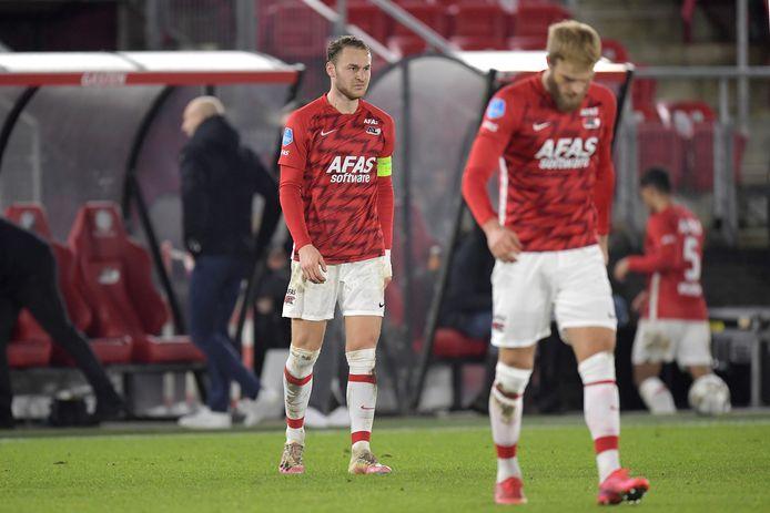 Teun Koopmeiners is boos na de nederlaag van AZ tegen FC Utrecht.