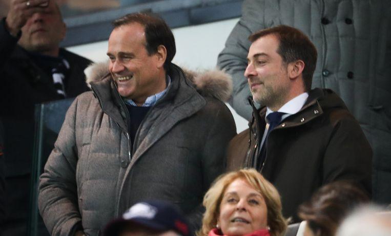 Mayence met Bayat in de tribunes tijdens Charleroi - Standard op 26 december van vorig jaar.