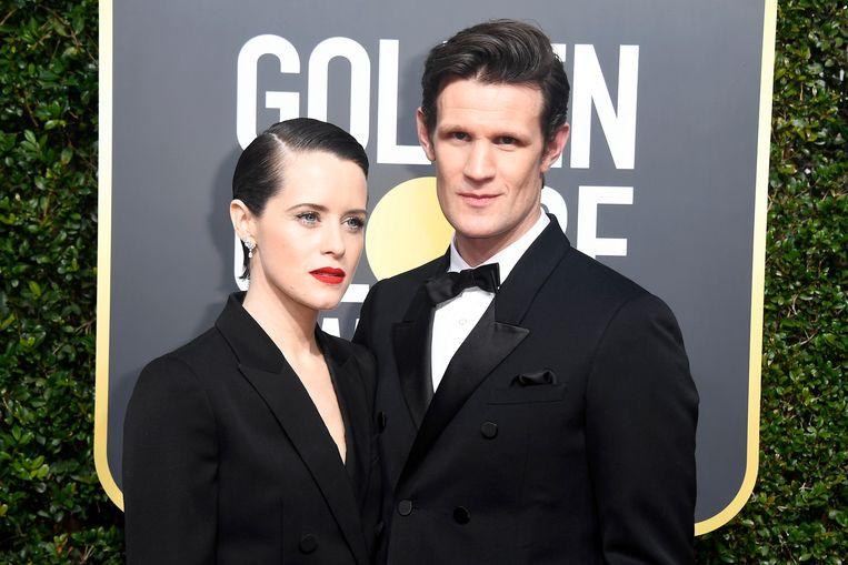 Claire 'The Queen' Foy en Matt Smith. Beeld Getty Images