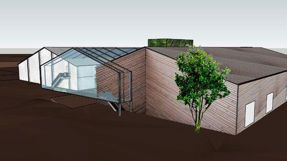 Binnenkort start de bouw van TRANSfarm, een nieuw onderzoekscentrum in Lovenjoel. © Parallel Architecten