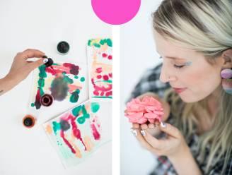 """Creatief mentor Elfi De Bruyn over de kracht van knutselen: """"Gun jezelf een kwartier om met glitters op een canvas te gooien"""""""