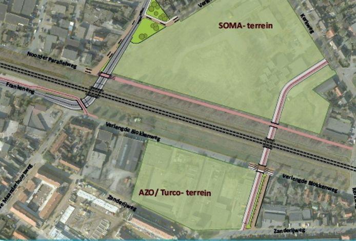 Beeld van de spoorzone in Ede. Foto: Gemeente Ede