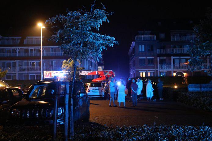 De bewoners werden een uur geëvacueerd.