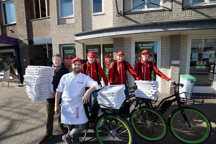 De Waalrese vestiging van pizzabar Pizzani opent op 18 maart. Links eigenaar Camille Peters.
