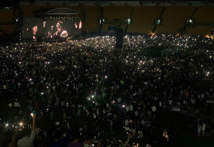 Duizenden mensen woonden het concert in Wellington bij.