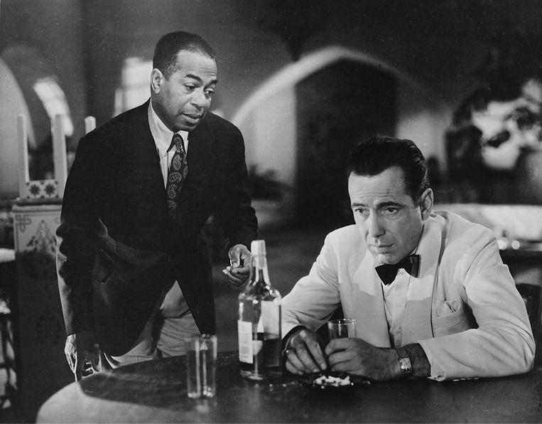 Dooley Wilson (links) en Humphrey Bogart in Casablanca. Beeld