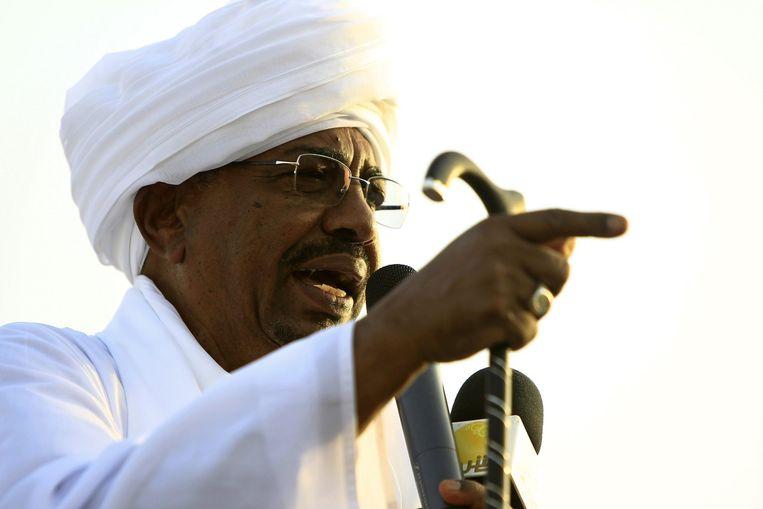 De Soedanese president Omar Hassan al-Bashir. Beeld reuters