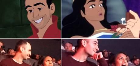 Il détourne un film Disney pour la demande en mariage la plus romantique qui soit