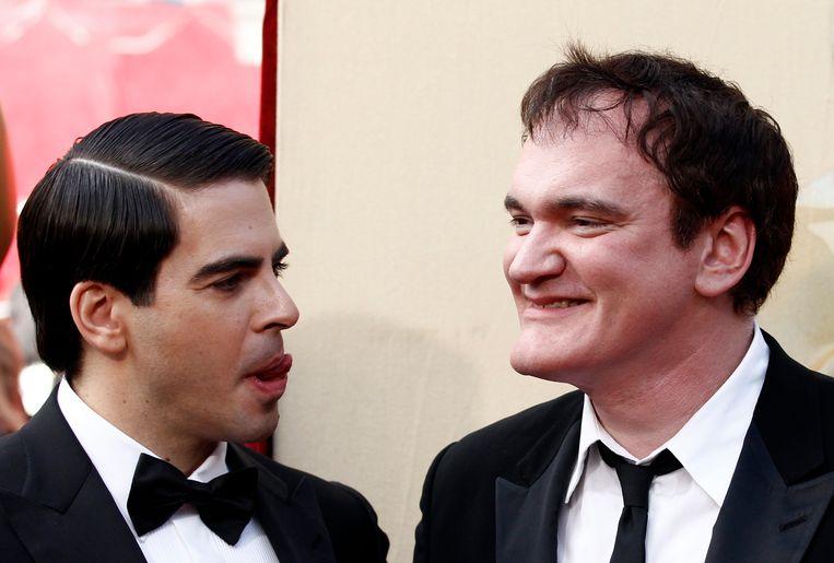 Eli Roth (l.) en Quentin Tarantino ten tijde van 'Inglourious Basterds'. Beeld AP