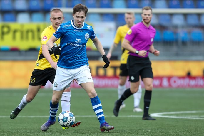 Ringo Meerveld afgelopen zaterdag in actie in de thuiswedstrijd van FC Den Bosch tegen NAC Breda (1-1)/.