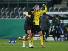 Borussia Dortmund dankzij goal Sancho als eerste club naar halve finales DFB-Pokal