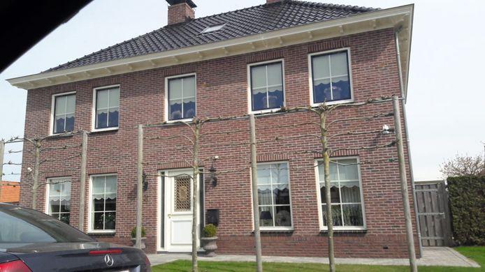 De woning van Stichting Kristal aan de Newtonlaan in Kruiningen.