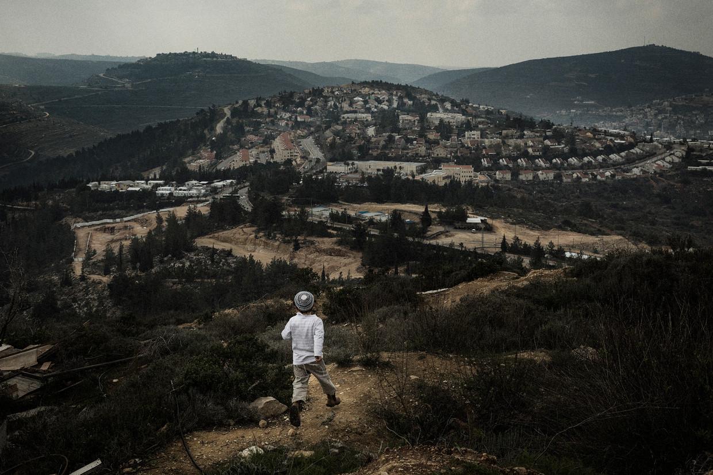 De nederzetting Eli. De nieuwe Israëlische regering hoopt de nederzettingen op de Westelijke Jordaanoever nog voor juli te annexeren.  Beeld Daniel Rosenthal