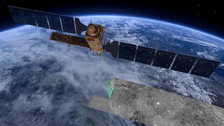 Sentinel-1, de radarsatelliet die gebruikt wordt voor de ontbossingsapp.  Beeld ESA
