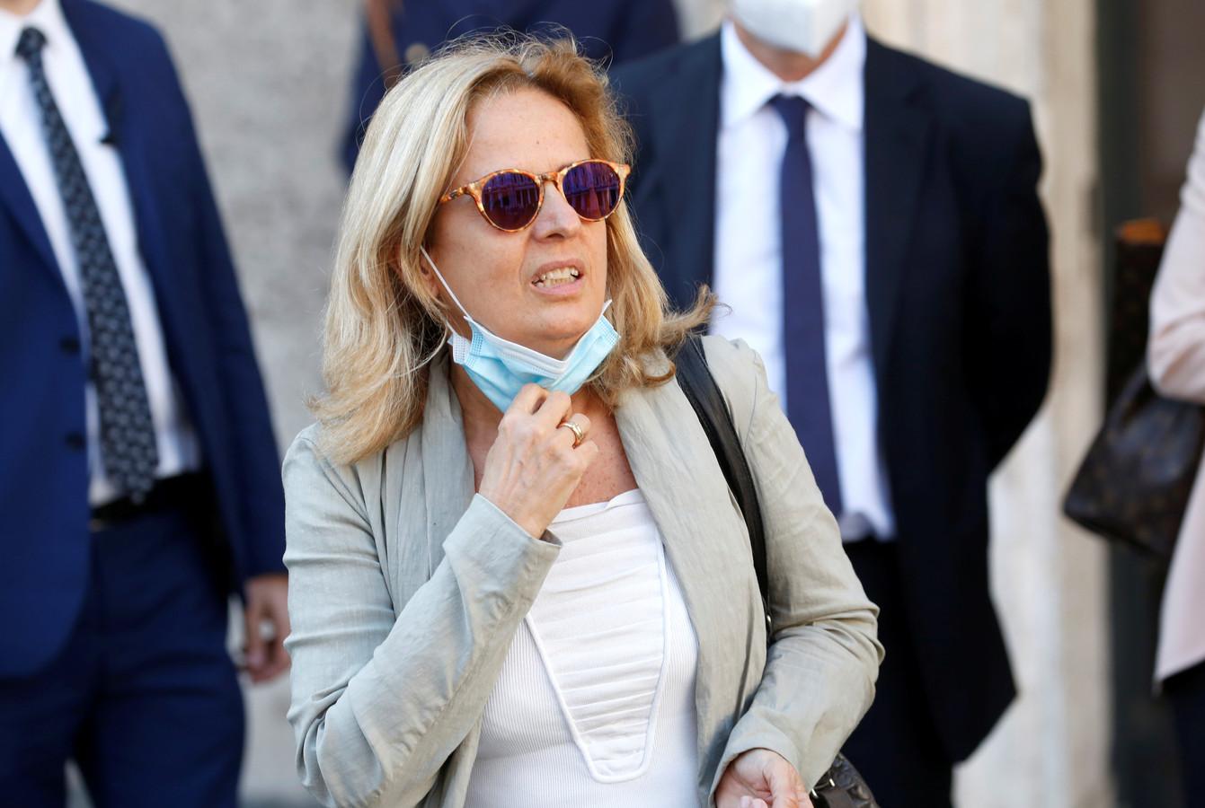 Bergamo's aanklager Maria Cristina Rota na het verhoor van premier Conte.