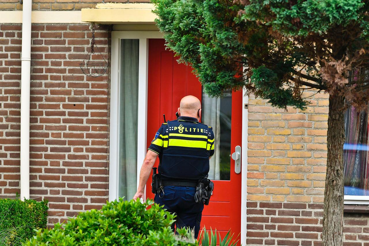 Een agent aan het werk in Dommelen.